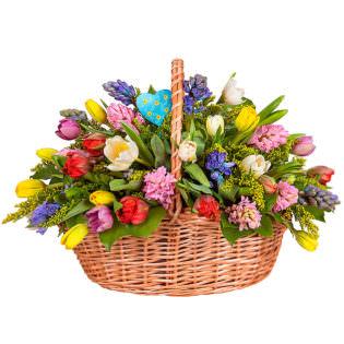 Корзина с цветами «Приветствие лета»
