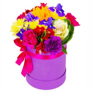 Цветы в коробке «Дольче вита»