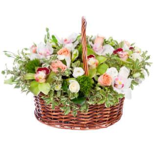 Цветы в корзинке «Колокольчик»